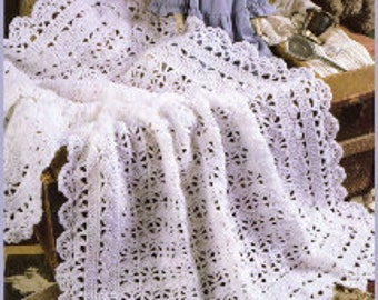 Crochet Heirloom Baby Afghan E-Book Tutorial