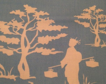 "wooster and prince ""Good Life Collection"" for Robert Kaufman 100% organic cotton fabric: Chinoiserie Gazebos"