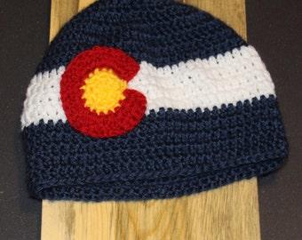 Classic Colorado Flag Beanie hat