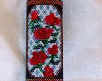 Rose Trellis Lighter Cover - Beading Pattern