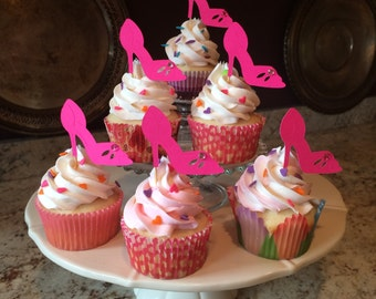 High Heels Cupcake Toppers / Shoe Lover / Shoe addict