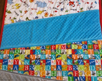 Dr Suess quilt, baby bedding, made to order