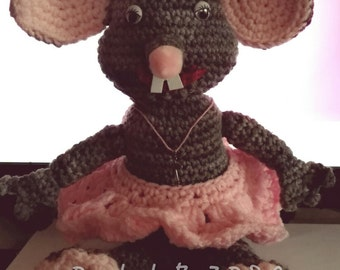 Ms. Mousey, Crocheted Mouse, Crocheted Animal
