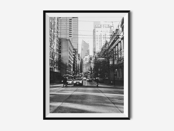 Vancouver art vancouver print wall decor black and white photography printable art downloadable photography city prints wall art