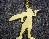 Final Fantasy 7 Cloud Strife Necklace - Final Fantasy Jewelry - FF7 pendant featured image