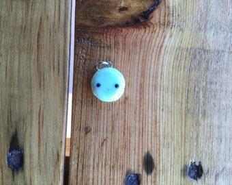 Pastel Blue Macaroon Charm - Polymer Clay