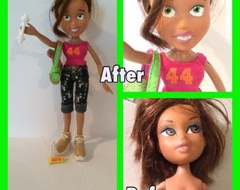 Sporty Jenny recycled upcycled doll