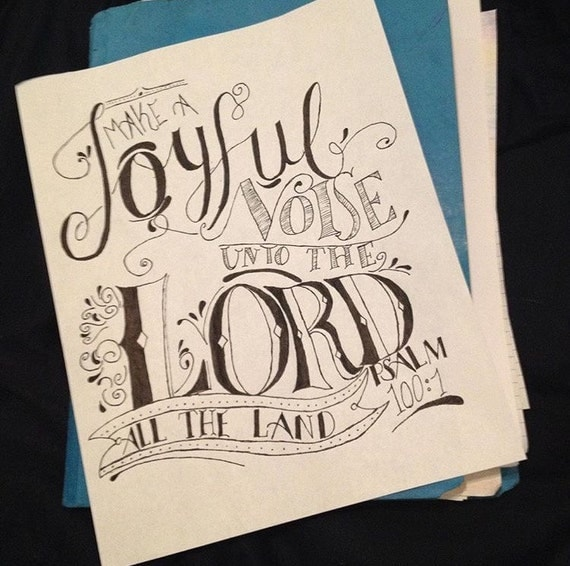 psalm 100:1 make a joyful noise