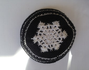 Magen David Top Kippa crocheted kippa