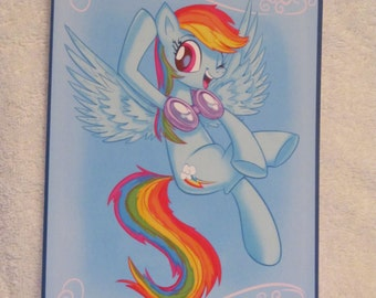 Rainbow Dash - My Little Pony - Brony Character - Just over A5 size -