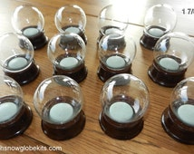 Make your own / DIY Tiny Snow globe kit (48mm) - Set of THREE