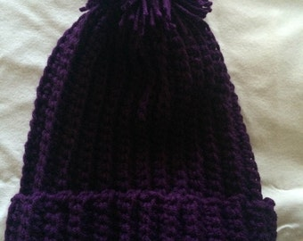 Crochet Hat (Purple)