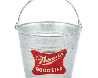 Nebraska: Good Life | Galvanized Beer Bucket - BNEB4418