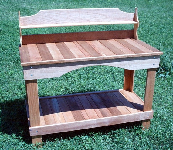 Our Style 11 Western Red Cedar Potting Bench Lifetime