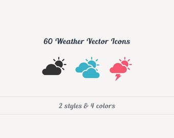60 Weather Vector Icons