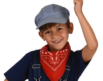 One Dozen Train Engineer or Railroad Conductor Hats for Kids