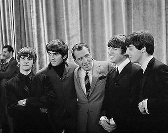 The Beatles and Ed Sullivan 8x10 Photograph