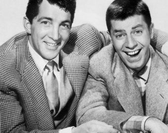 Jerry Lewis and Dean Martin 8x10 Photograph