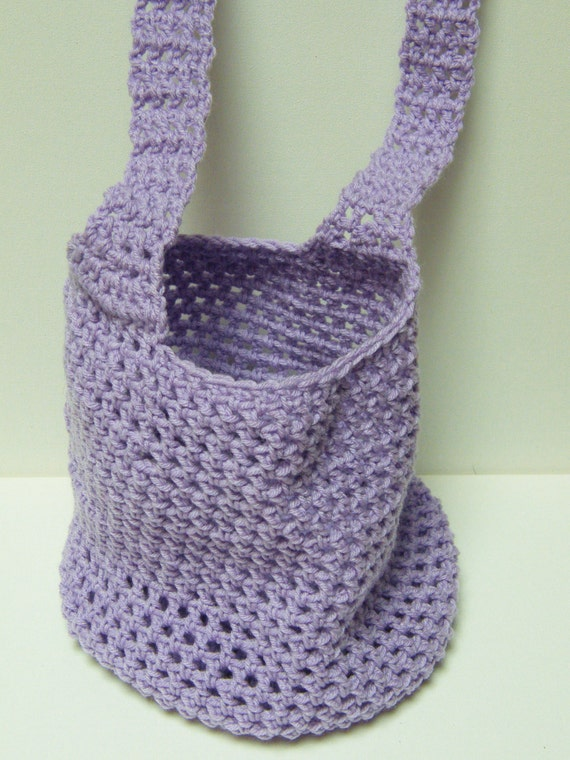 Crochet Small Bag : Small Crochet Bag-Produce, Grocery, Shopping, Beach, Laundry, Tote ...