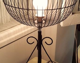 Custom Birdcage Lamp