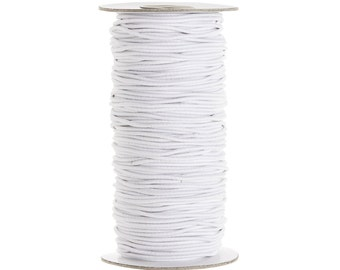 Elastic Cord - 2mm, White, 72 Yards | White Elastic Cording | 2 mm Elastic Stretch Cord by Darice