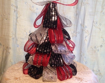 Decorative Christmas Ribbon Tree