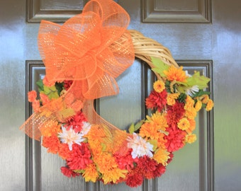 Festive Fall Wicker Wreath