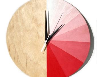 """Wooden Clock """"Gradient"""""""