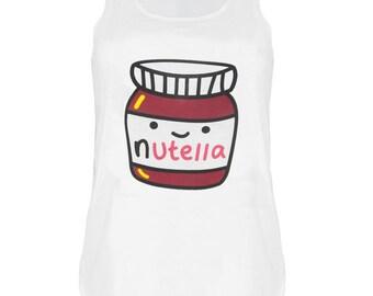 Nutella print Tank top vest urban womens ladies tshirt