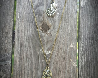 Hamsa and tree of life necklace set