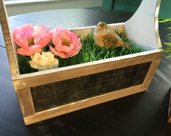 Decorative Flower Box with Chalkboard Front