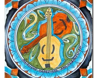 "Majolica tile ""violins"""