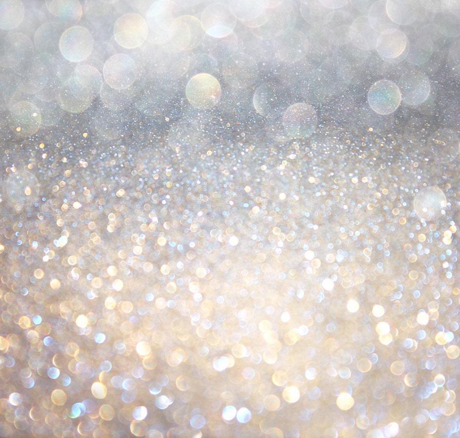 Sparkling Silver Silvers: Silver Glitter Backdrop Bokeh Sequin Holiday Sparkle