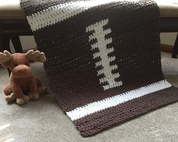 Crochet Pattern For Football Blanket : Crochet Football Baby Blanket