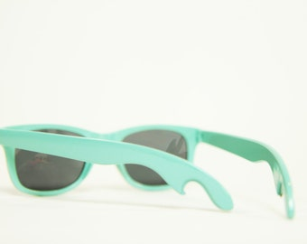 Teal Wayfarer Bottle Opener Sunglasses