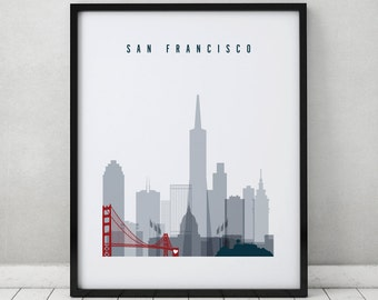 San Francisco art, print, Poster, San Francisco, Travel Wall art, California, City print, Wall Decor, Gift, Home decor, ArtPrintsVicky