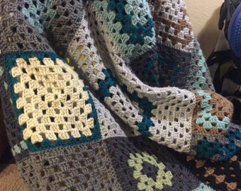 Geometric Asymmetry Afghan