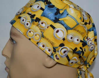 Minions Packed Yellow Surgical Scrub Cap Hat