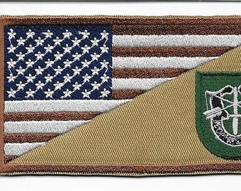 Green Beret Afghanistan & Iraq US Army 10th Special Forces Group Airborne Patch