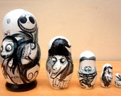 Russian Nesting Dolls The Nightmare before Christmas Jack Skellington.