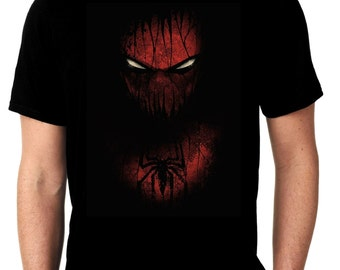 Creepy Dark Spidey Black T Shirt