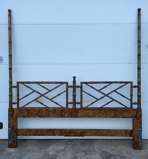 Henredon Artifacts Faux Bamboo King Size Headboard