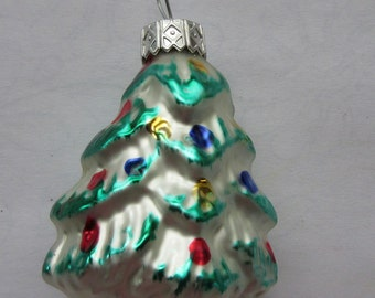 Vintage Christmas Ornament Christmas Tree Hand Blown Glass Made In Germany  #63