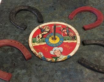 Roy Rogers & Trigger Ohio Art Horse Shoe Game 1950 Era