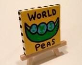 World Peas 3x3 Minipop Painting