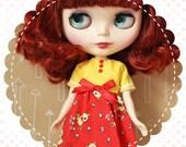 Darling Deerest / One-of-a-Kind Doll Dress for Blythe