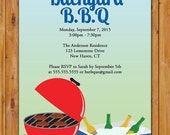 Backyard BBQ Invite Cookout Picnic Party Labor Day Celebration Burgers and Beer Cooler Grill Printable Invitation 5x7 Digital JPG (253)