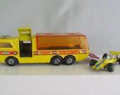 Matchbox Super King K-7 Racing Car Transporter with No. 34 Formula 1 Race Car