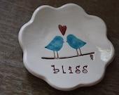 Ring Dish Ring Bowl Engagement Gift Wedding Gift Love Bird Ring Bowl Bliss