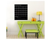 """Chalkboard Calender Wall Decal with Extra Note Panel - 28"""" wide x 34"""" tall"""